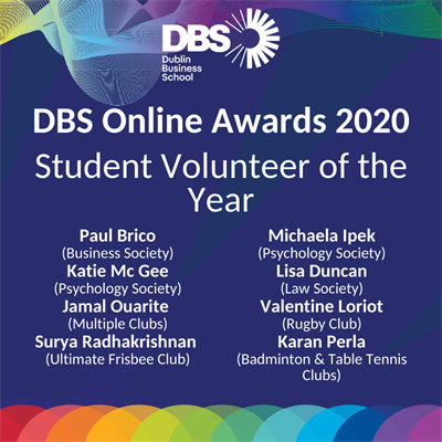 Student Volunteer of the year